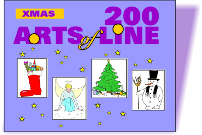 cd rom mit xmas cliparts weihnachten silvester pc mac. Black Bedroom Furniture Sets. Home Design Ideas