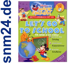 Disney Magic Englisch lernen mit CD - Lets go to School - Grundschule Vorschule