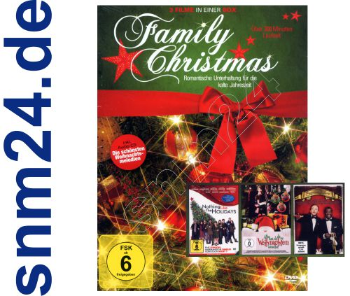Family Christmas DVD 3-Filme-Box Nothing like the Holidays + Alles was Du Dir zu Weihnachten wnschst + Christmas Show mit bekannten Hollywood Stars