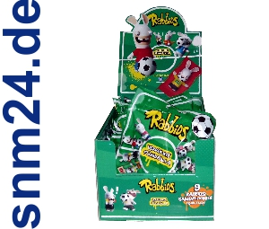 Rabbids Verrckte Fussballa Display mit 16 Tten Figuren Fuball Fussballer