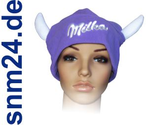 Milka Cow Cap - Mtze mit Hrnern - Kuhmtze - Der Hit beim Apres-Ski