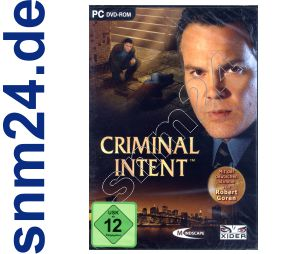 Criminal Intent komplett in Deutsch (PC DVD) NEU+OVP