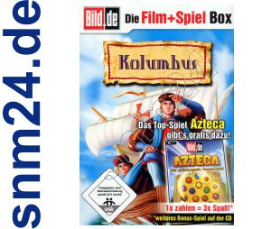 Azteca Match 3 Spiel + DVD Kolumbus (Zeichentrick) + Bonus - NEU