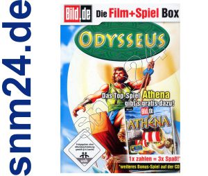 Athena Strategie Spiel + DVD Odysseus (Zeichentrick) + Bonus - NEU