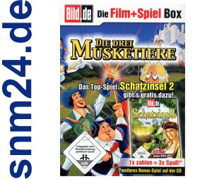 Die Schatzinsel 2 Match 3 Spiel + DVD Die drei Muketiere (Zeichentrick) + Bonus