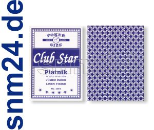 Pokerkarten Piatnik Club Star Spielkarten No.1384 Jumbo Index BLAU - NEU