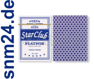 Pokerkarten Piatnik Club Star Spielkarten No.1382 BLAU Standard Index - NEU