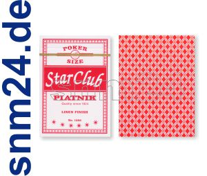 Pokerkarten Piatnik Club Star Spielkarten No.1382 ROT Standard Index - NEU