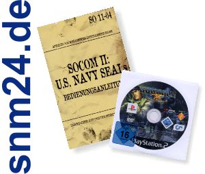 SOCOM II U.S. NAVY SEALS fr Playstation 2 - DVD Vollversion Deutsch + Handbuch